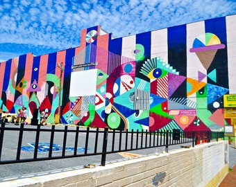 Urban Graffiti Building