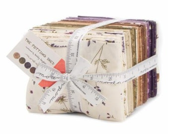 The Potting Shed,  Holly Taylor, Fabric by Moda, Pre-Release, Fat Quarter Bundle, Panel with Fabric