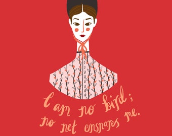 Limited edition Jane Eyre art print - A2 420 x 594