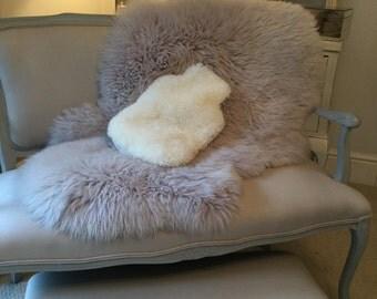 Sheepskin hot water bottle cover 'Hottie ' Ivory curly wool