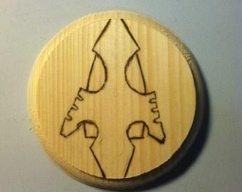"""CW Arrow Logo 4"""" Wooden Coaster"""