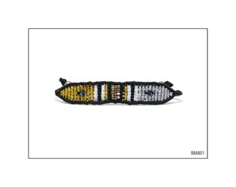 Macrame Band Bracelet - Gold and Silver / BBAB01