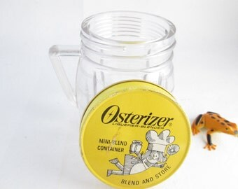 Osterizer Mini-Blend Container Small Blender Jar with Lid Osterizer Jar Blender Container Mini Blend Jar plastic storage jar with lid