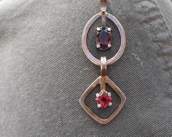 Garnet & Sterling Pendant