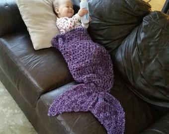 Custom Made Mermaid Tail Blanket