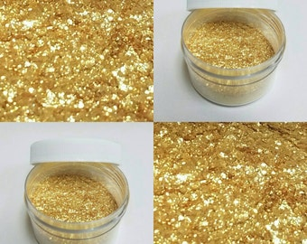 Extra Fine Non-Toxic  Golden Angel Flakes. 5 Grams