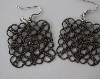 Tribal earrings,Earrings, Lightweight earrings, dangle earrings, bronze earrings
