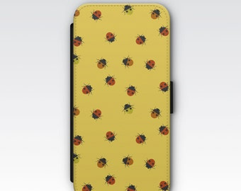 Wallet Case for iPhone 8 Plus, iPhone 8, iPhone 7 Plus, iPhone 7, iPhone 6, iPhone 6s, iPhone 5/5s -  Ladybug Ladybird Pattern Case