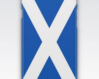 Case for iPhone 8, iPhone 6s,  iPhone 6 Plus,  iPhone 5s,  iPhone SE,  iPhone 5c,  iPhone 7  - Flag of Scotland St Andrew's Cross