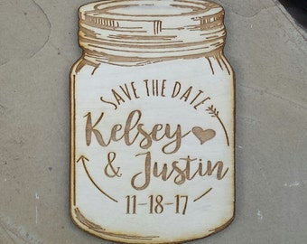 Save The Date Wedding- Save The Date Wood- Save The Date Laser Engraved- Save The Date Custom- Custom Wooden Magnet/Tag