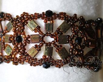 Brown seed beads bracelet