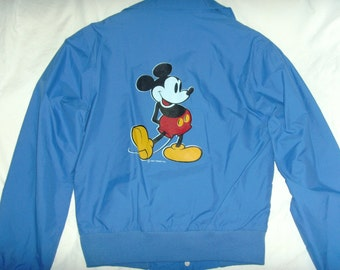Unused Mickey Mouse Jacket, Minnie robics, 1980's Blue Nylon, Never Worn, Disney Productions