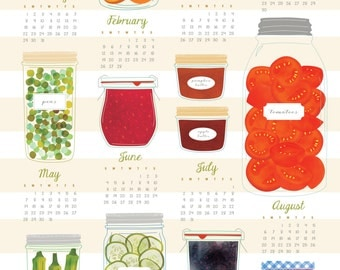 2017 Tea Towel Calendar - Canning Jars