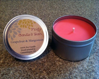 Grapefruit & Mangosteen - 6 oz. Scented Soy Candle Tin