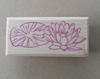 Buffer water lily / Lily or Waterlily rubbertamp