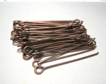 50% OFF Clearance Sale 100pcs Antique Copper Eye pins 30mm 21ga(No.600)