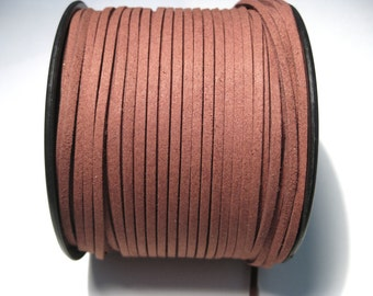 5 Yards Reddish Brown Faux Suede Cord 3mm (No.CN1)