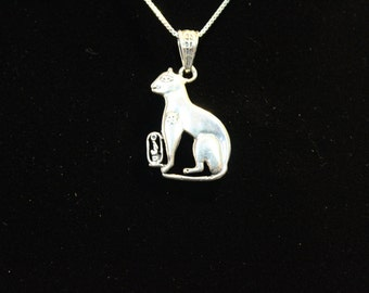 Sterling Silver Bastet (Medium sz)