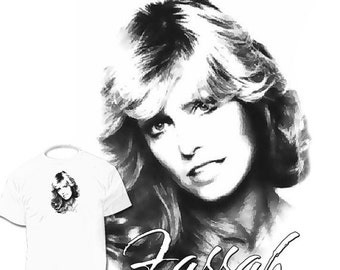 40% OFF Sale Farrah Fawcett T shirt Charlie's Angels Kate Jackson Jaclyn Smith Cheryl Ladd Lee Majors Drawings are Available
