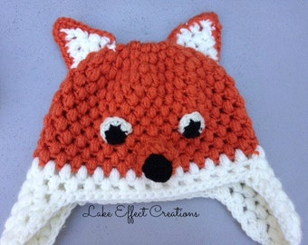 Fox Hat - Crocheted, Child Size