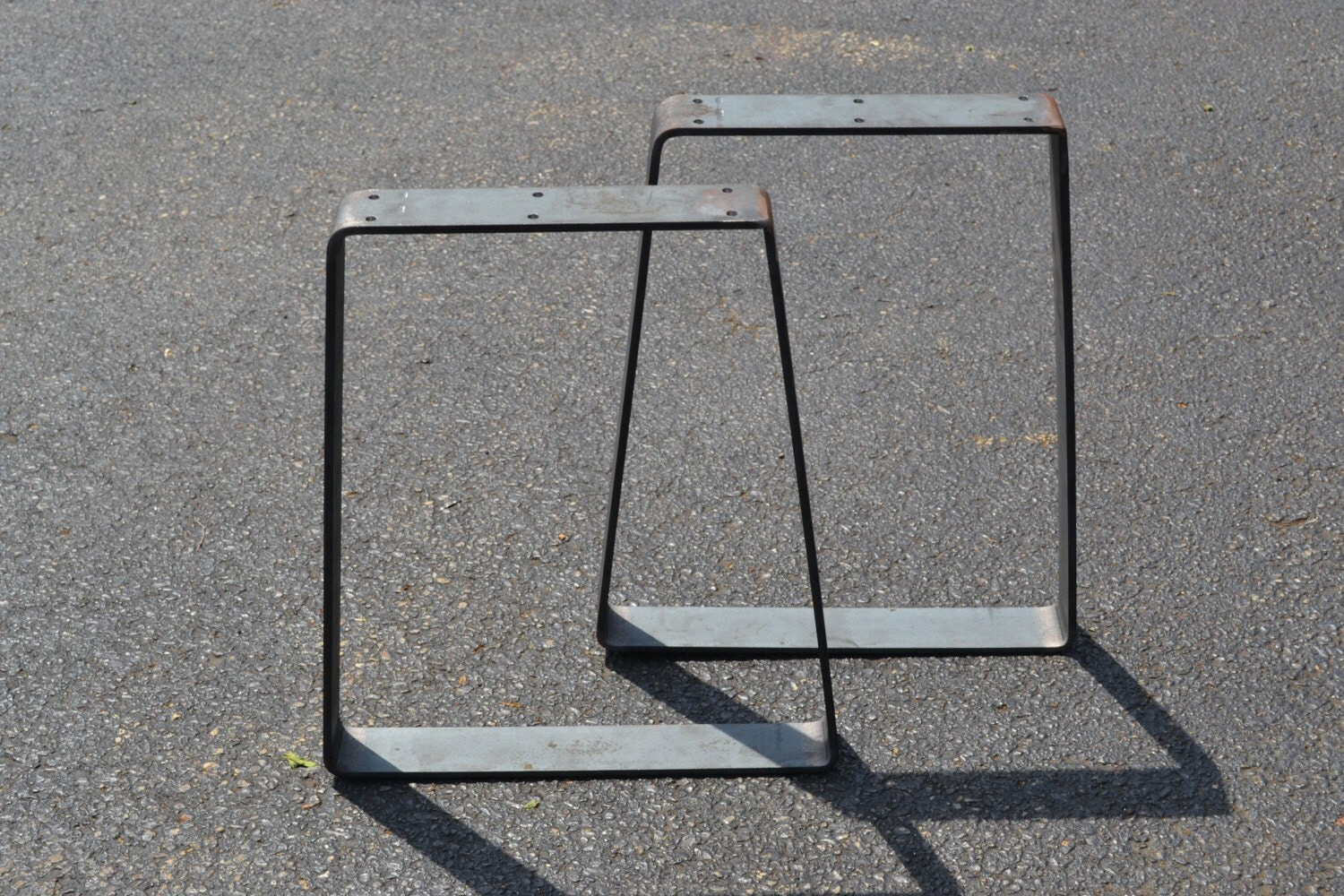 Tapered Coffee Table Legs Ready To Ship Bent Metal Reverse Tapered Bench Or Coffee Table Legs