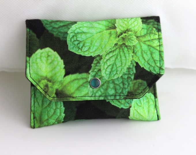 Essential Oil Bag, Cotton Snap Pouch, Holiday Gift, Peppermint Photography Travel Pouch, Essential Oil Travel Pouch, Cotton Bag, Digital