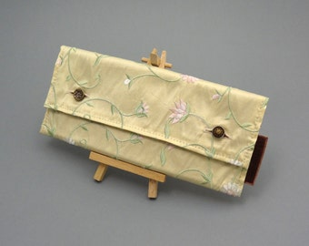 Pastel Vines Floral Clutch Bag