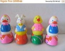 ON SALE Ducks-Vintage Plastic Duck Set Of Four