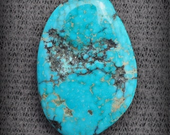 Morenci Arizona old stock water web nugget turquoise cab 9