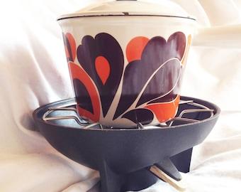 Skillet fondues vintage, 70s, the crucible.
