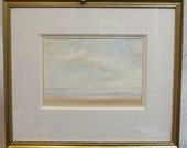 Kenneth Lauder small  original watercolour painting Thos Agnew label listed artist framed art Worldwide freight