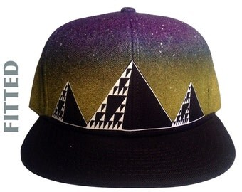 Ancient Future- FITTED - Glow in the Dark, Airbrushed Hat