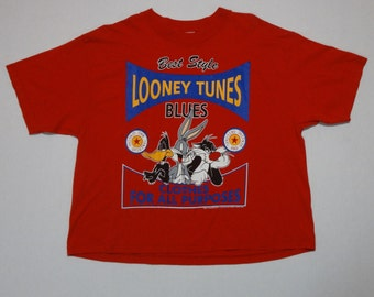 Looney Tunes Clothes for All Purposes Crop Shirt Vintage 1990s L