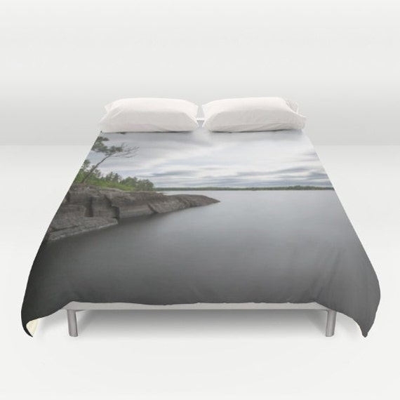Duvet Cover, King Bedding, Queen Bedspread, Full Size Bed, Twin Bed Decor, Nature Photography, Lake Images, Bedroom Art, Smooth Water Photo