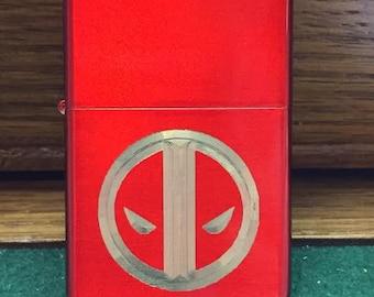 DEADPOOL logo LIGHTER with Gift Box red oil lighter new