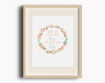 Mumford&Sons Lyric Love Print, Instant Download, Printable Art, Digital Print