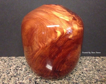 Woodturned Hollow Form -  Hollow Vessel - Red Juniper - Woodturned Art