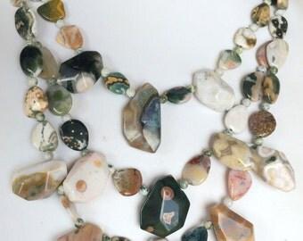 Ocean Jasper Beaded Necklace