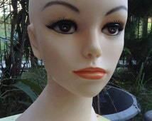 Meet Beautiful Holly~Mannequin Display,Hair dresser,jewelry display,Millenery,Cosmetology,Head display,Store display,craft Show,Head Bust