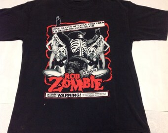 Rob Zombie T shirt S M It's A Deadly Nightmare  RARE
