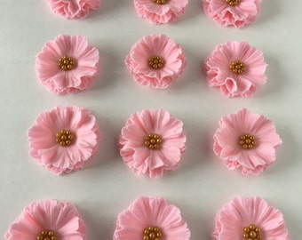 Fondant flowers - ruffle flowers