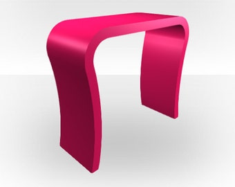 Pink Gloss Console Table- Curved