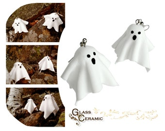 Halloween White Ghosts Dangling Earrings - Dangle Earrings - Gift for Her - Valentine's day
