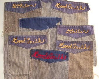 Vintage Hood Milk Dairy Pocket Patches circa the 40's