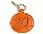 No.24 Leater Plate Birth Date Series/Custom/Keychain/Key fob/Keyring *VANCA* Made in Japan #26364 Free Shippin