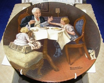 Norman Rockwell The Gourmet Knowles Collector Plate Heritage Collection