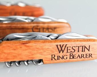 Ring Bearer Gift, 12 Engraved Pocket Knifes, Personalized Groomsmen Gift, Personalized Wedding Favor, Knife