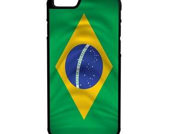 Brazil Flag iPhone Galaxy Note LG G4 Hybrid Rubber Protective Case Brasil