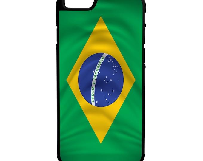 Brazil Flag iPhone Galaxy Note LG G4 Hybrid Rubber Protective Case Brasil
