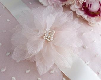 silk flower comb, fabric flower, silk flower sash belt, silk flower brooch, fabric flower comb, fabric flower, wedding belt silk flower
